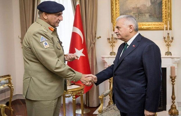 Chief of Army Staff (COAS) Gen Qamar Javed Bajwa met with Turkish Prime Minister Binali Yaldarim