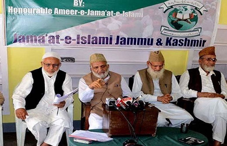 Indian authorities have banned Jamaat-e-Islami in occupied Kashmir.