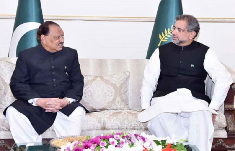 President Mamnoon Hussain and Prime Minister Shahid Khaqan Abbasi
