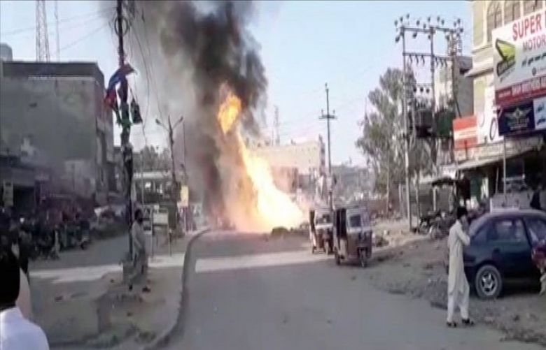 Gas pipeline explosion in karachi