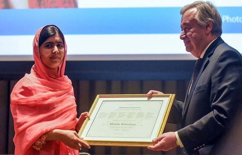 Malala Yousafzai is the youngest Messenger of Peace, the highest honour given by the United Nations