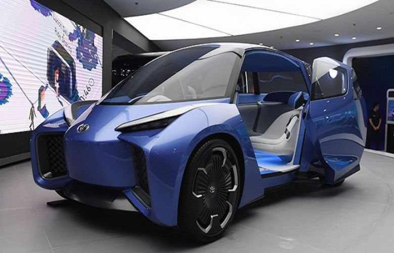 Toyota Rhombus autonomous vehicle concept at the Shanghai Auto Show in Shanghai.