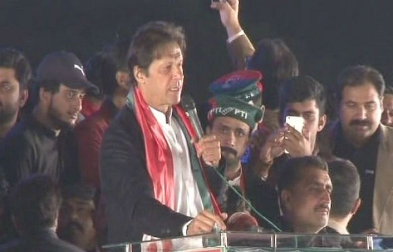 Pakistan Tehreek-e-Insaf Chairperson Imran Khan