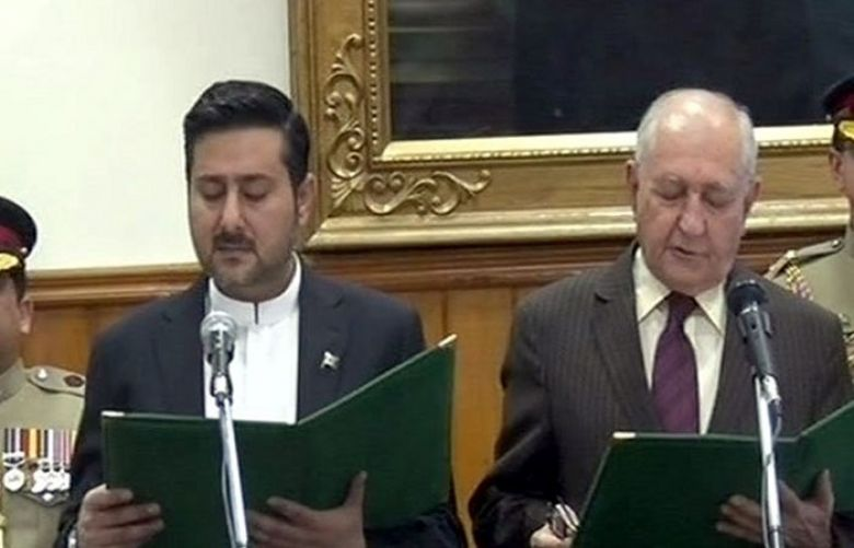 Alauddin Marri takes oath as Caretaker CM Balochistan
