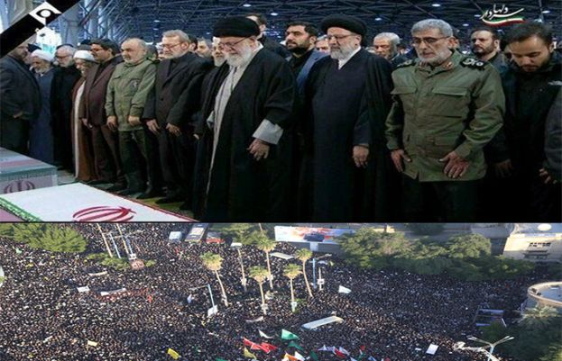 Funeral procession for martyred commanders offered in Tehran