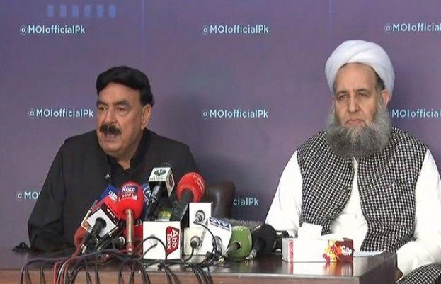 Federal Interior Minister Sheikh Rasheed and Pir Noor ul Haq Qadri