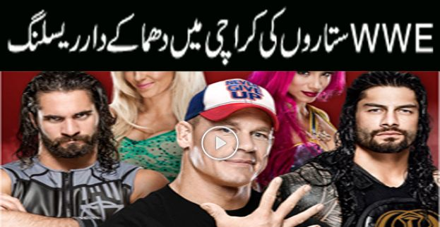 International wrestlers to be seen in action in Karachi tonight