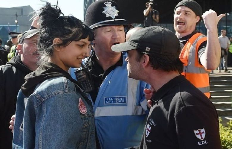 The image of Saffiyah Khan went viral