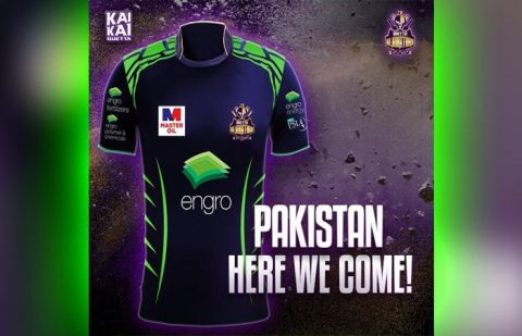 Quetta Gladiators' kit to turn green for matches in Pakistan