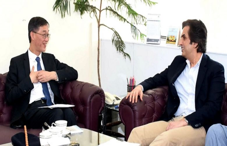 Chinese Ambassador to Pakistan Yao Jing and Federal Minister for National Food Security and Research Makhdoom Khusro Bakhtiar