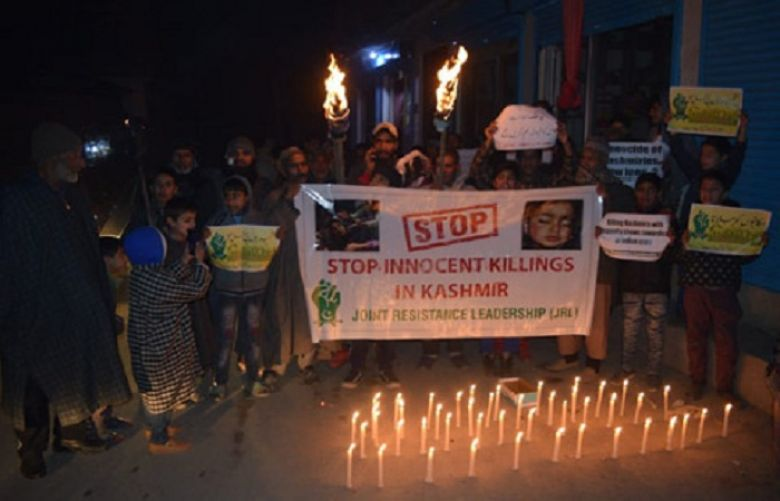 Hurriyat leaders, activists hold candle light protests in IOK