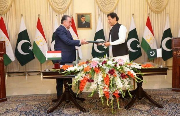 PM Imran Khan, Tajikistan President Emomali Rahmo