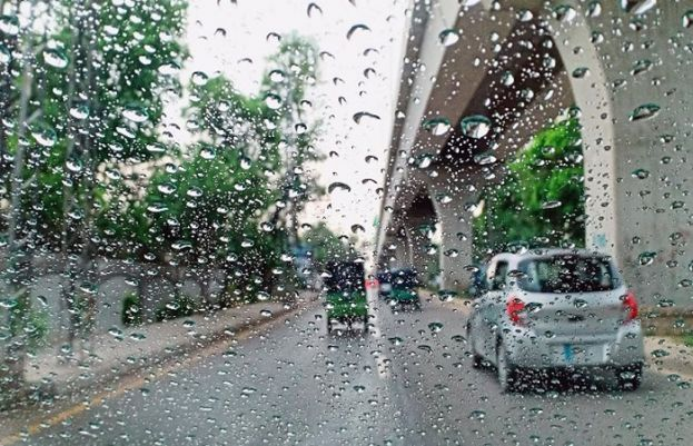 Parts of port city received light rainfall in the ongoing monsoon spell
