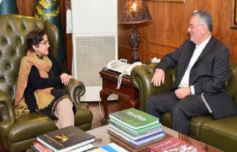Secretary-General of ECO Dr Hadi Soleimanpour and Foreign Secretary of Pakistan Tehmina janjua