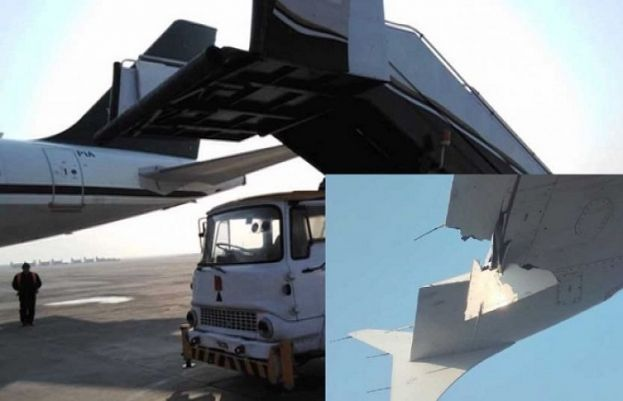 PIA aircraft collides with staircase at new airport Islamabad