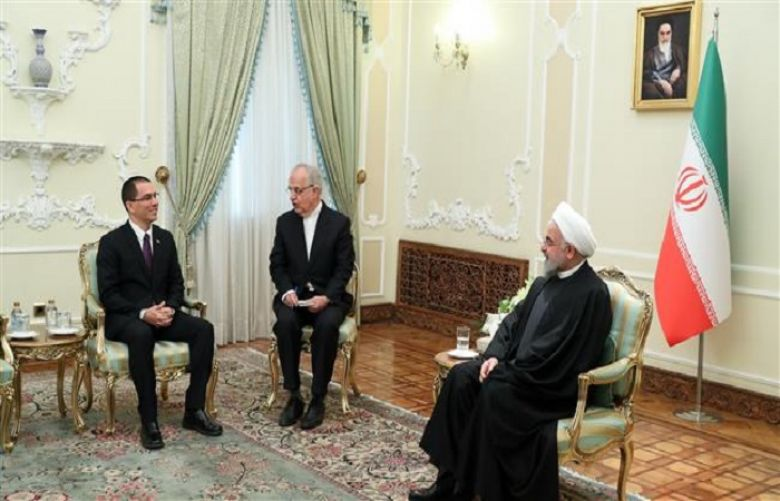 Venezuelan Foreign Minister Jorge Arreaza meets President Hassan Rouhani
