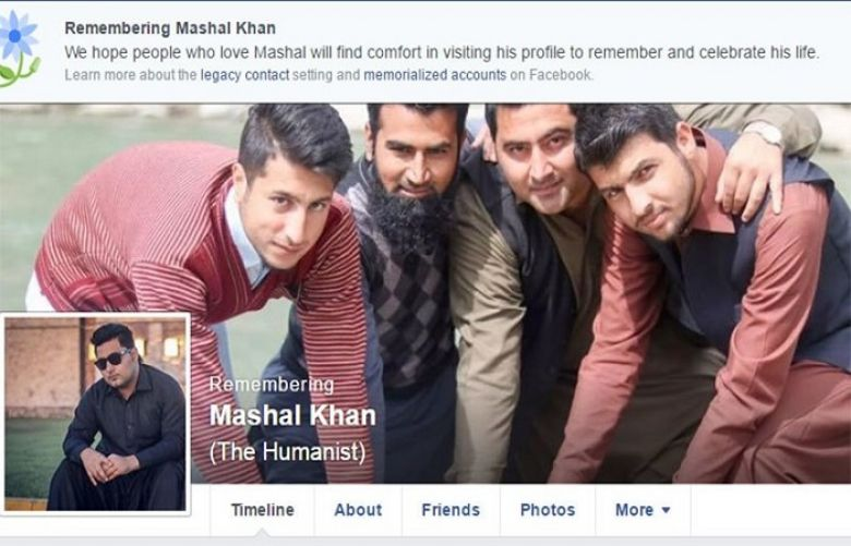 Facebook memorialises Mashal Khan's account