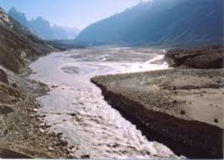 Baltoro River Overflows, Low Lying Areas Submerged