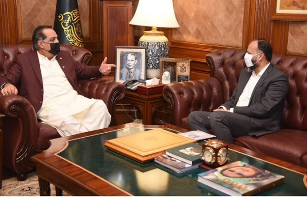 Sindh Governor Imran Ismail and K-Electric CEO Moonis Alvi