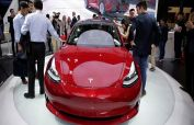 Tesla shares in the red for 2021 as bitcoin selloff weighs