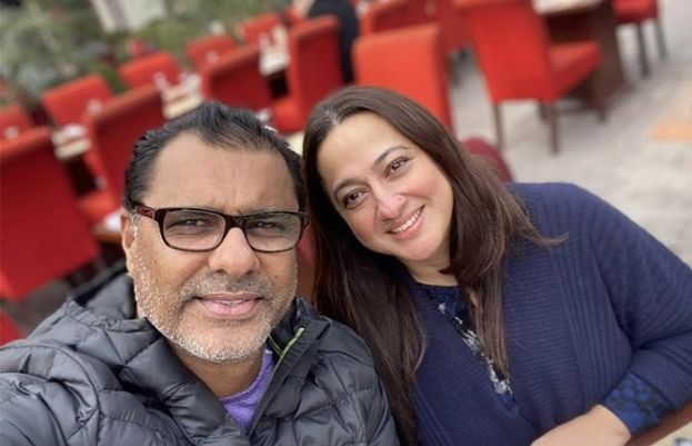 bowling coach Waqar Younis and his wife