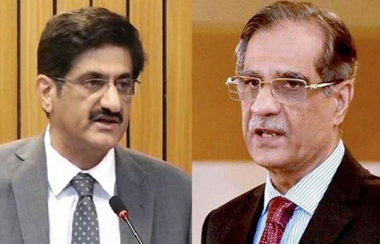 Sindh Chief Minister (CM) Murad Ali Shah and Chief Justice of Pakistan (CJP) Justice Saqib Nisar