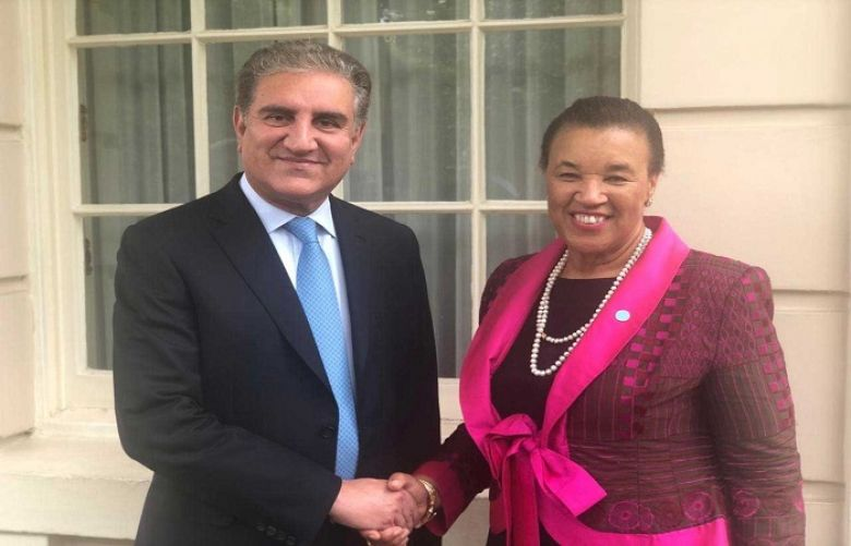 FM Qureshi, SG Commonwealth discuss bilateral relations
