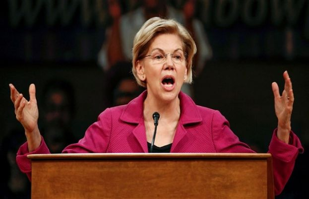 The US Democratic presidential candidate, Elizabeth Warren