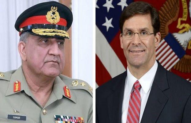 Chief of Army Staff Gen Qamar Javed Bajwa andUS Secretary of Defence Mark T. Esper