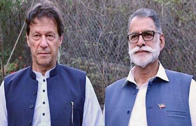 PM Imran Khan and Sardar Abdul Qayyum Niazi