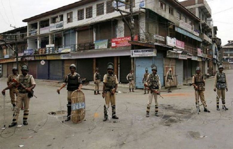 Complete shutdown in occupied Kashmir over martyrdom of mujahid