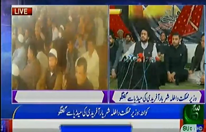 Hazara community ends protests after talks with Shehryar Afridi and Jam Kamal