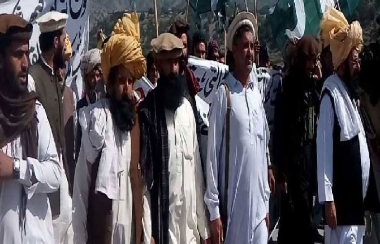 Protest in South Waziristan against the killing of eight tribesmen in Afghanistan