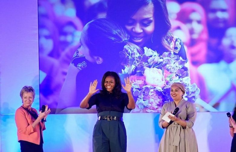 Michelle Obama Revisits London School That Inspired Education Drive