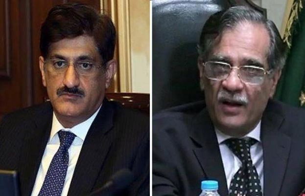 Chief Justice of Pakistan Justice Mian Saqib Nisar and Sindh Shief Minister Murad Ali Shah