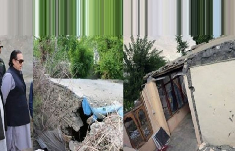 Governor GB Raja Jalal visits landslide affected village of Naikoei