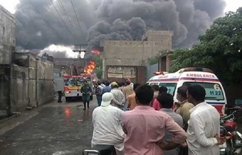 blaze erupts at furniture factory in gujranwala such tv