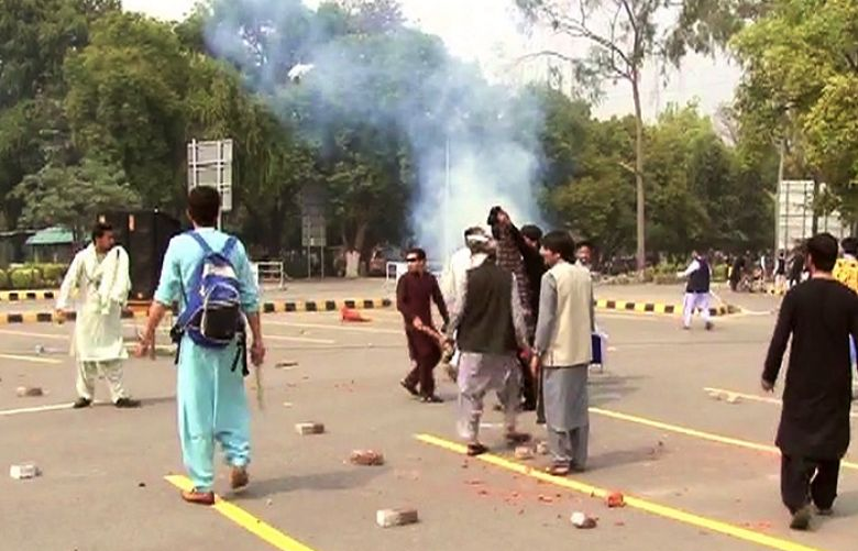 Punjab University's Pakhtun students protest against IJT