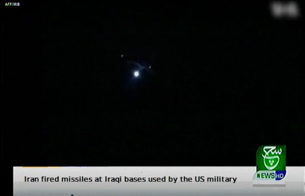 Iran fired missiles at Iraqi bases used by the US military