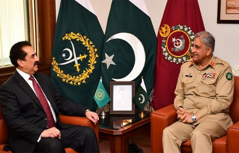General (retired) Raheel Sharif called on COAS General Qamar Javed Bajwa