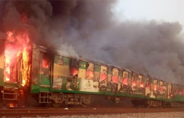 At least 11 dead, others injured after train catches fire near Rahim Yar Khan