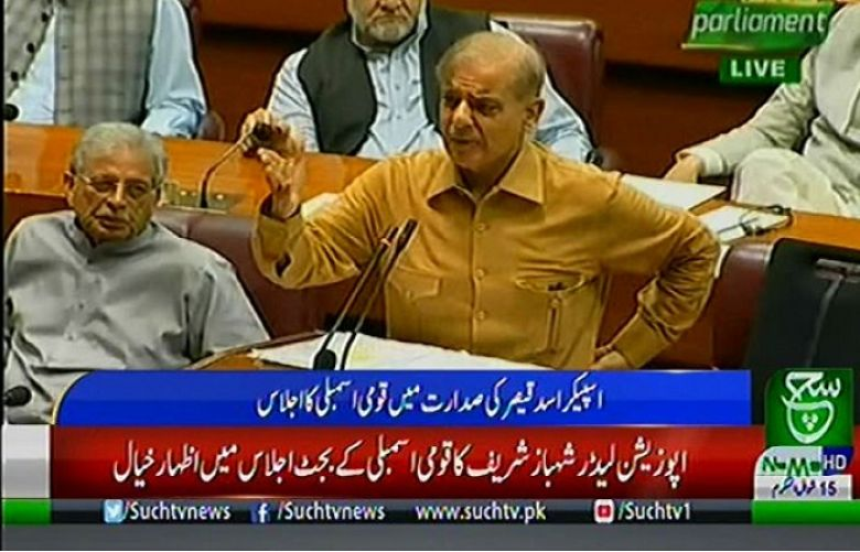 Leader of the Opposition in the National Assembly and Pakistan Muslim League-Nawaz leader Shehbaz Sharif