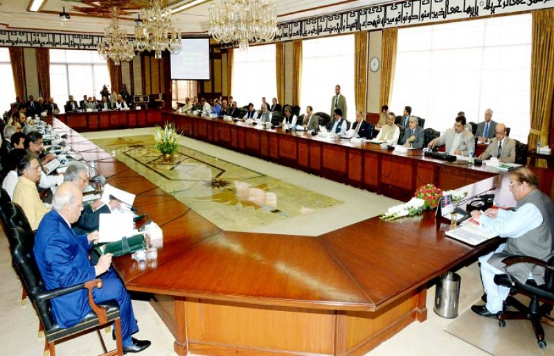 Prime Minister Nawaz Sharif Chaired The Meeting.