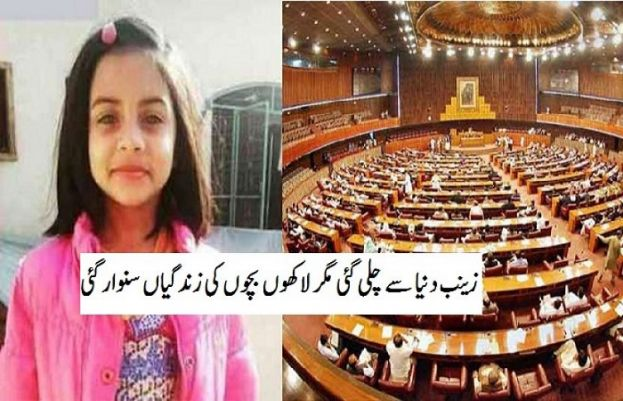 National Assembly passes Zainab Alert Bill for recovery of missing children