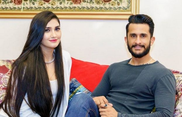 National cricketer Hasan Ali and his wife Samiya