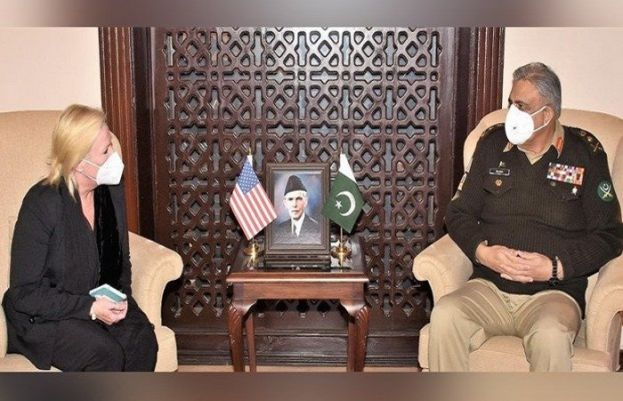 United States (US) Charge d' Affairs to Pakistan Angela Aggeler called on Chief of Army Staff (COAS) General Qamar Javed Bajwa
