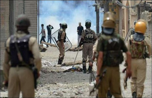 A complete shutter down strike in Indian Occupied Kashmir