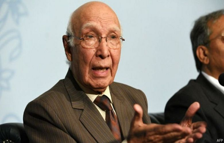 Advisor to the Prime Minister on Foreign Affairs Sartaj Aziz