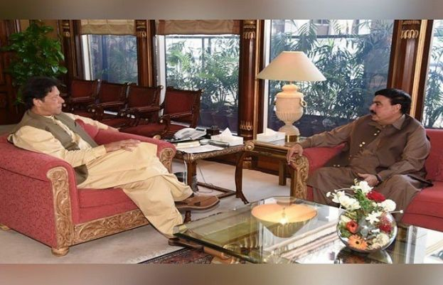 Prime Minister Imran Khan and Sheikh Rasheed
