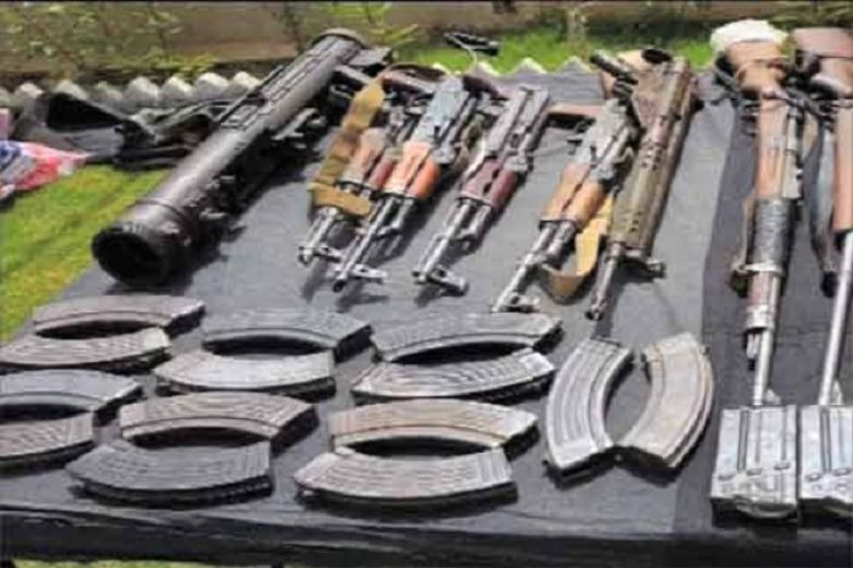 Huge Cache Of Arms Recovered from Dera Murad Jamali